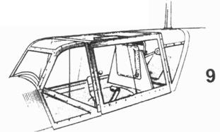9.Усиленный фонарь последних серий Bf.109Е-3
