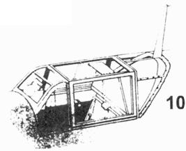 10.Фонарь кабины Bf.109Е-4
