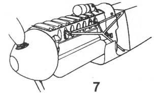 7.Двигатель Jumo 210 на мотораме из стальных труб,