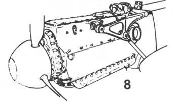 8.Двигатель DB 601 на профилированной мотораме.