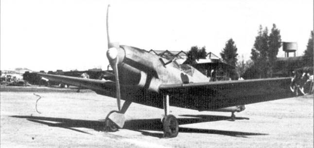 Bf.109 V Ганса Траутлофа на аэророме Таблада.