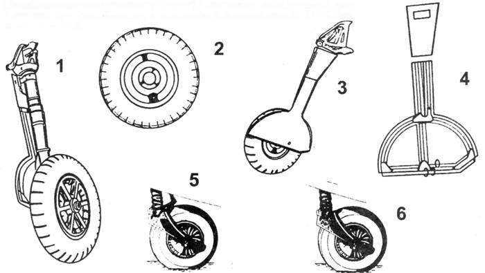 1.Стойка основного шасси (вид от законцовки крыла),