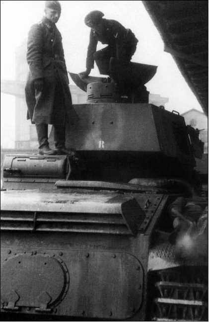 Вид сзади на один из танков Nb.Fz. №3–5.
