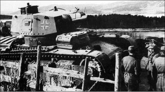 Танк Nb.Fz. в Норвегии. 1940 год.