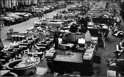 Ремонт танка Nb.Fz. №1 с башней фирмы Rheinmetall. 1940 год.