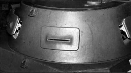 Башня танка Pz.I Ausf.A. Оба лючка для наблюдения, расположенные в кормовой части башни, имели смотровые щели.