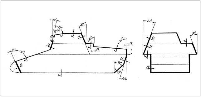 Схема бронирования легкого танка Pz.I Ausf.B.