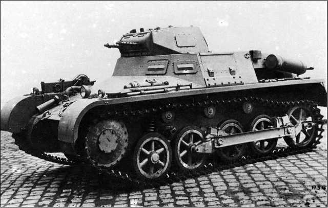 Прототип танка Pz.I Ausf.A с дизельным двигателем Krupp М601.