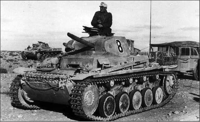 Танки Pz.II Ausf. А — С в Северной Африке. 1941 год.