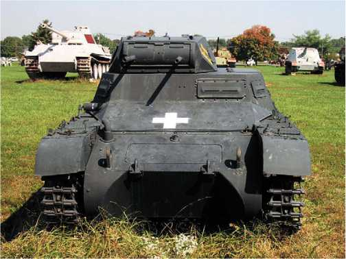 Легкий танк Pz.I Ausf.B в экспозиции военного музея на Абердинском полигоне в США.