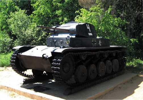 Panzer II Ausf.C в экспозиции Ленино-Снегиревского военно-исторического музея.