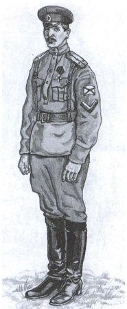 Лейтенант Морской роты Добровольческой армии. Рисунок В.Б. Желдакова