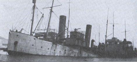 Канонерская лодка «Грозный» затопленная в Бизерте. 26 февраля 1923г.