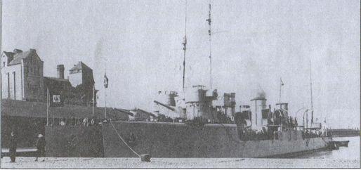 Эсминцы «Вамбола» и «Линнук» под перуанским флагом (соответственно — «Альмиранте Виллар» и «Альмиранте Гуиссе»)