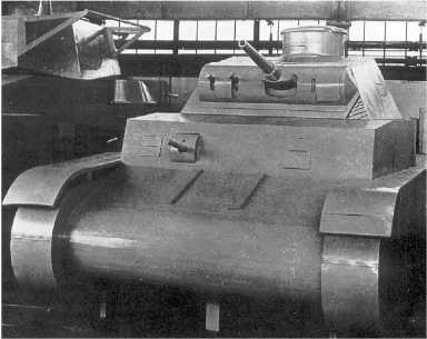 Деревянный макет танка BW в натуральную величину, изготовленный в 1934 году.