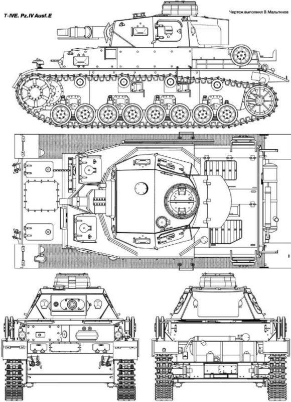 T-IVE. Pz.IV Ausf.E.