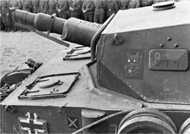 Pz.IV Ausf.F1 на НИБТ-Полигоне в Кубинке, 1947 год. Характерная деталь этой модификации — прямая лобовая плита с шаровой установкой курсового пулемета.