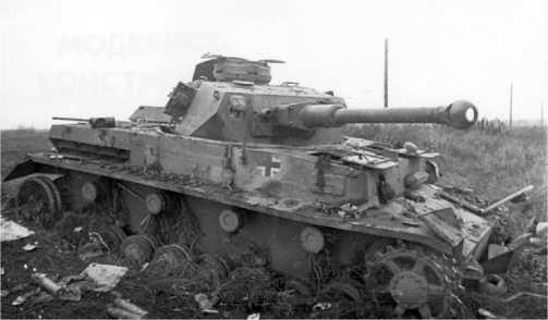 Подорвавшийся на мине и добитый советской артиллерией Pz.IV Ausf.F2. Северный Кавказ, район г. Орджоникидзе (ныне Владикавказ), 1942 год.