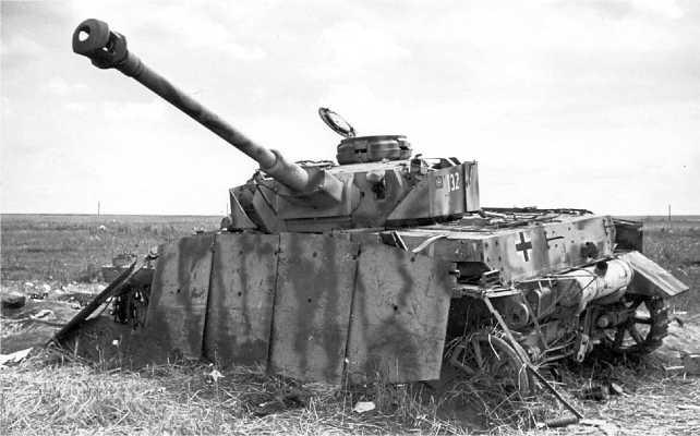 Подбитый «Тигр Тип 4» — Pz.IV Ausf.G, Орловско-Курская дуга, 19 июля 1943 года.