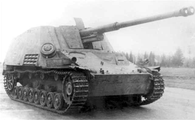 Истребитель танков «Насхорн» на НИБТ-Полигоне в Кубинке, 1947 год.