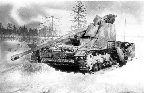Этот «Насхорн» буквально разнесло вдребезги прямым попаданием. Восточный фронт, 1944 год.