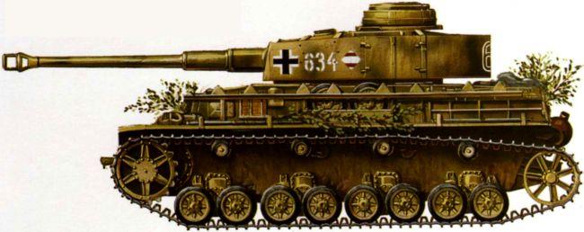 Pz. IV Ausf.H. Учебная танковая дивизия, Франция, 1944 год.