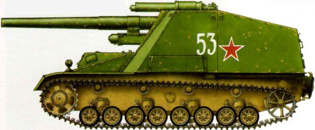 Трофейная САУ «Хуммель». Отдельный самоходно-артиллерийский дивизион 27-й армии, район оз. Балатон, март 1945 года.