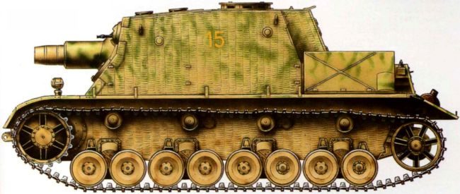 Штурмовой танк Brummbar третьей серии захваченный войсками 3-й армии 2-го Белорусского фронта, Восточная Пруссия, февраль 1945 года.
