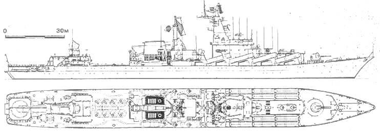 Ракетный крейсер «СЛАВА»