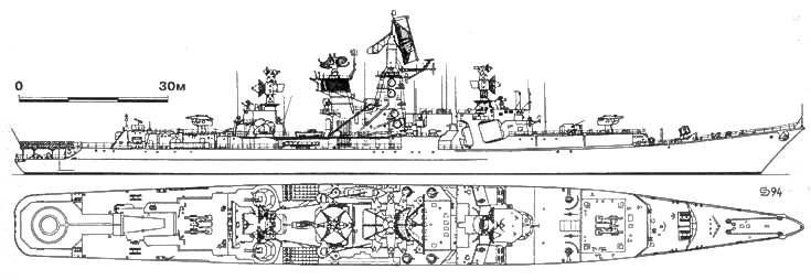 Большой противолодочный корабль «АДМИРАЛ МАКАРОВ», 1991 г.