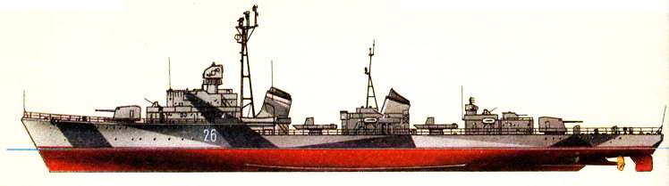 Эскадренный миноносец «Отрывистый» (проект 30-бис), 50-е гг.