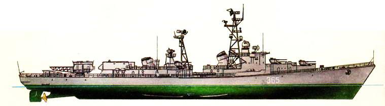 Большой ракетный корабль «Бедовый» (проект 56-ЭМ), 60-е гг.