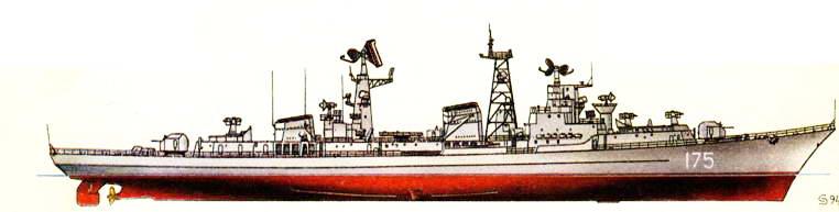 Большой противолодочный корабль «Проворный» (проект 61-Э), 1976 г.