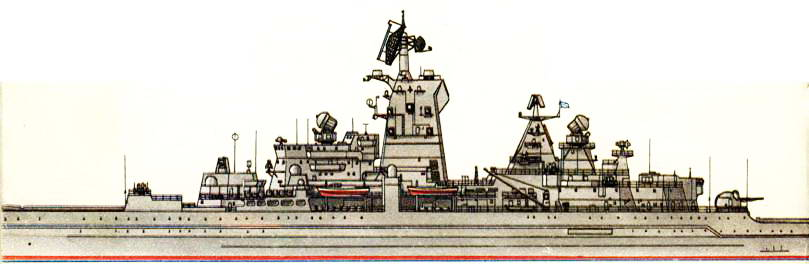 Тяжелый атомный ракетный крейсер «Адмирал Нахимов» (проект 1144), 1994 г.