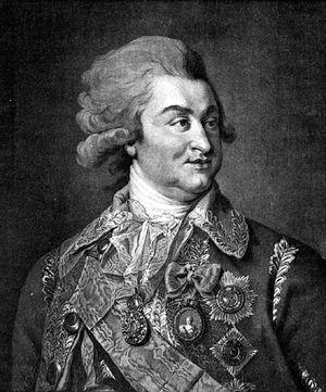 Григорий Потемкин. Гравюра Дж. Валькера с оригинала Лампи. 1789г.
