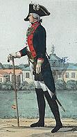 Обер-офицер 1-го флотского батальона. 1793г. Рек. А.П. Шпака.