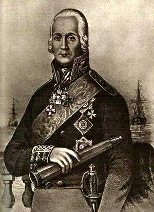 Федор Ушаков. Литография.