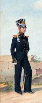Обер-офицер Гвардейского экипажа. 1824–1825гг. Из собрания ЦВММ.