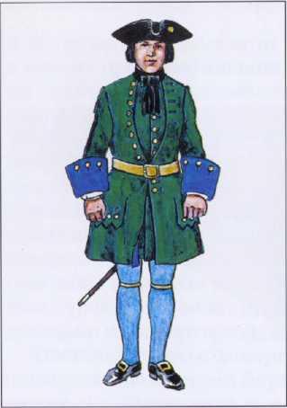 Рядовой морского полка. 1706 1707гг. Рек. В.Ф. Мезенева.