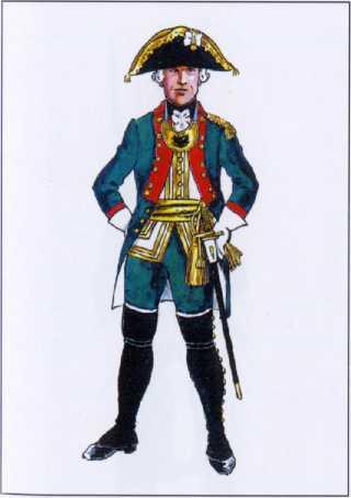 Штаб-офицер морских батальонов. 1764г. Рек. В.Ф. Мезенева.