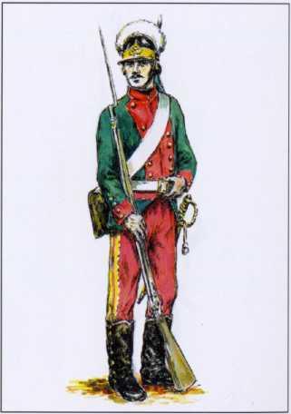 Рядовой Гренадерского корпуса. 1795г. Рек. А.П. Шпака.