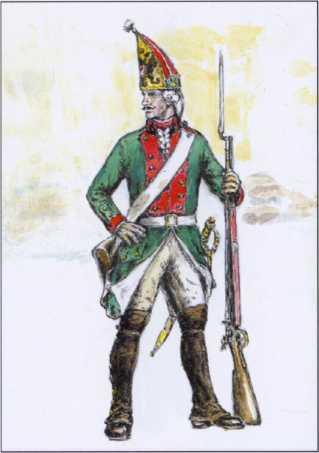 Гренадер 1-го флотского батальона. 1793г. Рек. А.П. Шпака.
