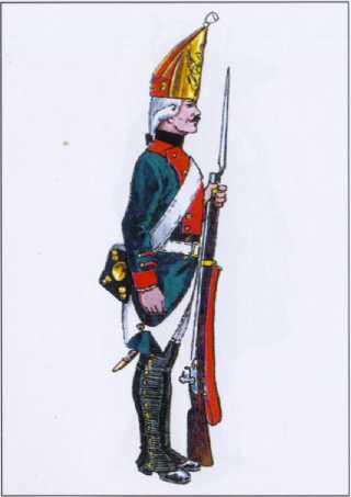 Гренадер 1-го Адмиралтейского батальона Балтийского флота. 1798г.Рек. В.Ф. Мезенева.