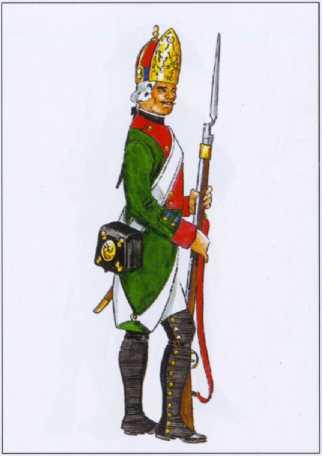 Фузилер 1- го гребного батальона Балтийского флота. 1797г. Рек. В.Ф. Мезенева.