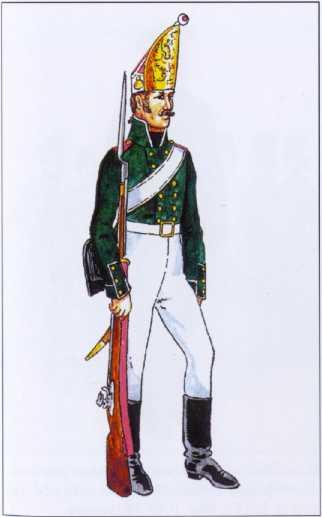 Гренадер Шефской роты 1-го морского полка. 1803г. Рек. В.Ф. Мезенева.