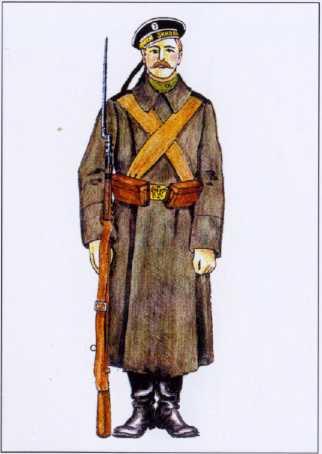 Рядовой Отдельной морской бригады Моонзунда. 1916г. Рек. В.Ф. Мезенева.
