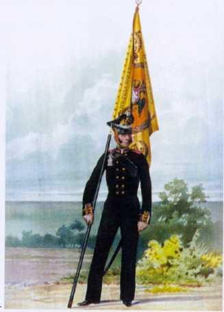 Знаменщик ГЭ. 1813г. Из собрания ЦВММ. 3421/33.