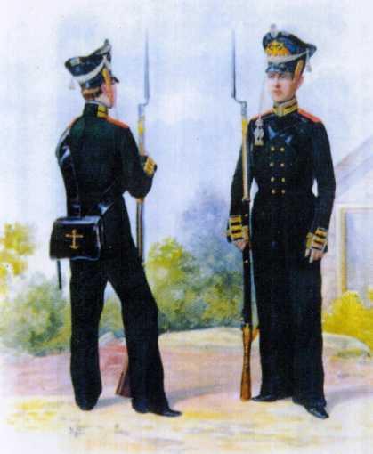 Унтер-офицер и матрос ГЭ. 1812–1816гг. Из собрания ЦВММ.3421/36.