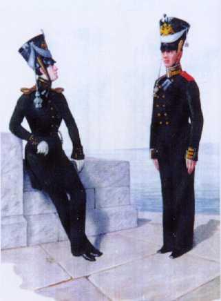 Обер-офицер и унтер-офицер ГЭ. 1824–1825гг. Из собрания ЦВММ.