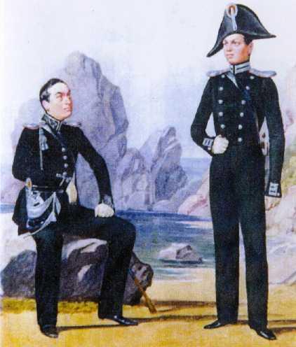 Обер-офицеры ГЭ. 1826–1828гг. Из собрания ЦВММ. 3421/42.
